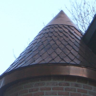 custom metal roof turret